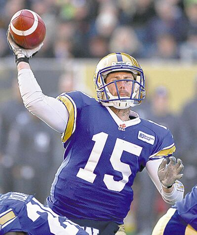 Blue Bombers quarterback Max Hall