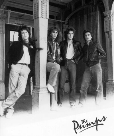 POLYGRAM</p><p>The Pumps in 1980, from left, drummer Terry Norman Taylor, keyboardist Brent Diamond, singer and bass player Chris Burke-Gaffney and guitarist Lou Petrovich.</p>