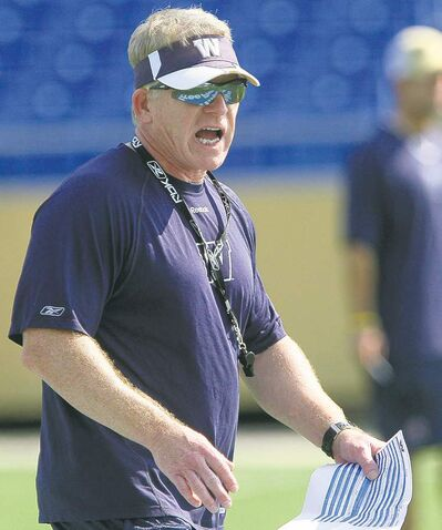 Blue Bombers interim head coach Tim Burke claims to know nothing about a contract extension.