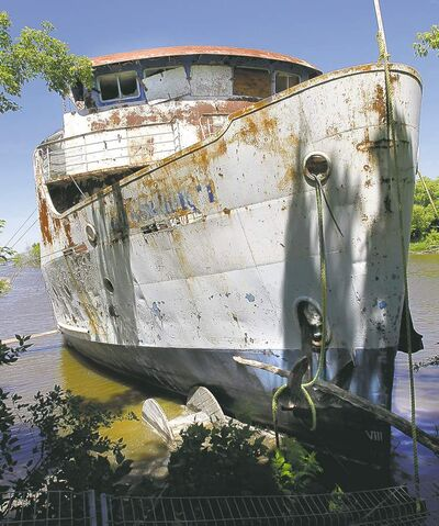 The Lord Selkirk II, which used to cruise the Red River, has been aground at Selkirk since 1990.