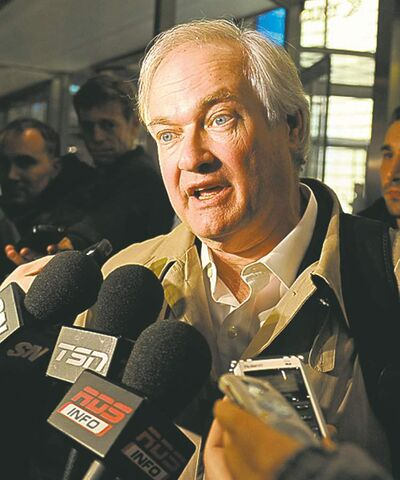 NHLPA boss Donald Fehr addresses the media on Friday in New York.