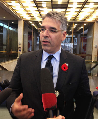 President of the Canadian Police Tom Stamatakis addresses the media today.