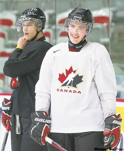 nathan denette / the canadian pressTeam Canada forward Tanner Pearson (right) hasn�t until now made much of a splash on the world junior hockey stage, but he�s a linemate of Jets prospect Mark Scheifele and appears ready to perform.