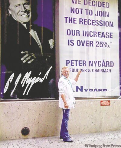 Peter Nygard attributed company's success during difficult economic times to a superior business model and a focus on being a 'value supplier' of women's clothing.