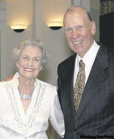 Sen. Douglas Everett and his wife, Patricia. (Winnipeg Free Press files)