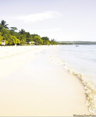Seven Mile Beach near Negril in Jamaica.