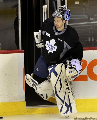 Maple Leafs goalie James Reimer gets the start tonight. He's looking for more tickets if anyone has some extras....