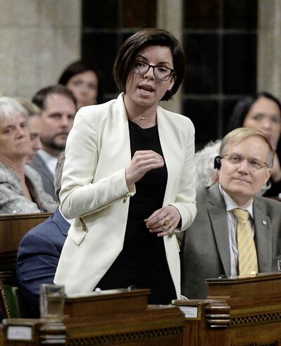 NDP MP Niki Ashton asks a question during question period in the House of Commons on Parliament Hill in Ottawa on Monday, May 16, 2016.