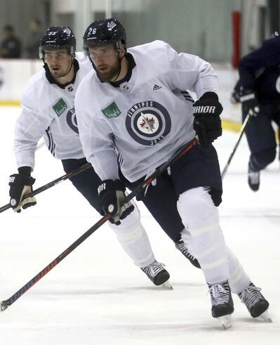TREVOR HAGAN / WINNIPEG FREE PRESS FILES</p><p>Mark Scheifele (left) and Blake Wheeler will once again be two of the Winnipeg Jets' biggest contributors this season.</p>
