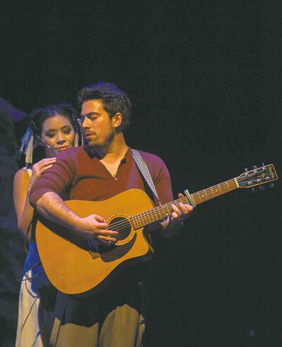 Marlene Ginader, left, and Kayvon Kelly perform the songs of Leonard Cohen.