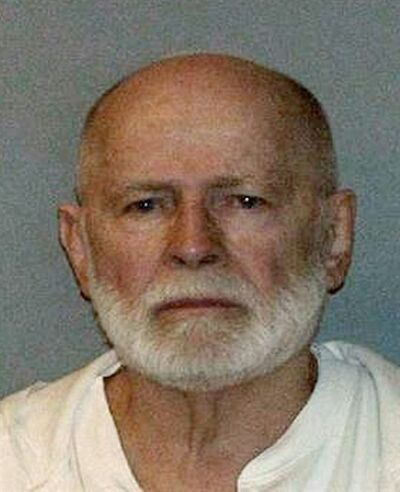 "FILE - This undated file booking photo, obtained by WBUR 90.9 - NPR Radio Boston, shows Boston mob boss James ""Whitey"" Bulger, who was captured on June 22, 2011, in Santa Monica, Calif., after 16 years on the lam. Prosecutors plan to wrap up their case against James ""Whitey"" Bulger following testimony from two final witnesses in his racketeering trial, Friday, July 26, 2013. (AP Photo/WBUR 90.9, File) MANDATORY CREDIT"