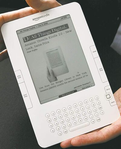 The new Kindle 2 electronic reader