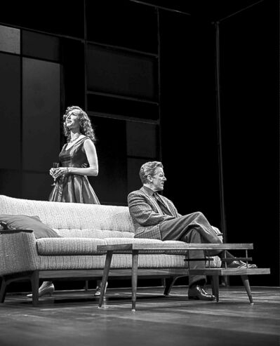 Laura Lussier, left, as Sasha and Arne  MacPherson  as the title  character in the WJT production of Ivanov.