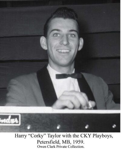 OWEN CLARK photo</p><p>Harry Taylor plays the pedal steel guitar for the CKY Playboys in 1959.</p>
