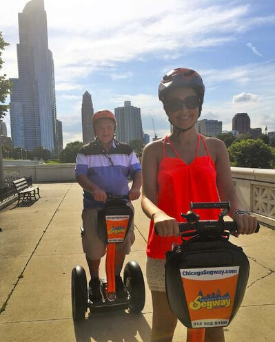 SUPPLIED</p><p>Ron Pradinuk really enjoyed the Segway adventure.</p>