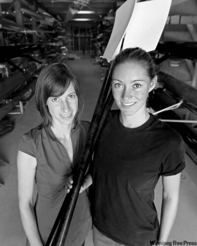 Brandi Smith (left) and Kaitlin Rempel each won two gold medals at the North Western International Rowing Association Regatta.