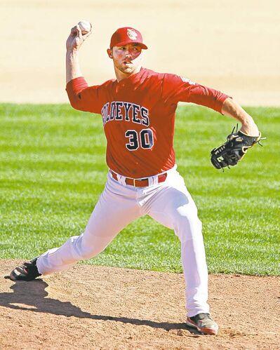 Goldeyes pitcher Chris Bodishbaugh was moved back to the Sioux City Explorers.