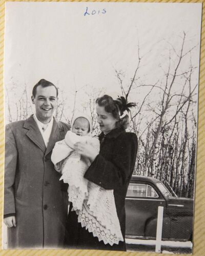 Gordon Herd with his wife Eileen and their first child Lois.