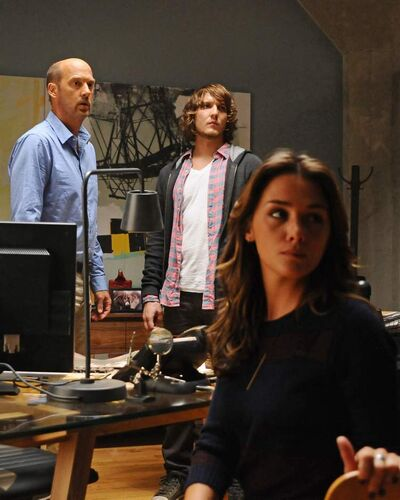 From left, Anthony Edwards, Scott Michael Foster and Addison Timlin.