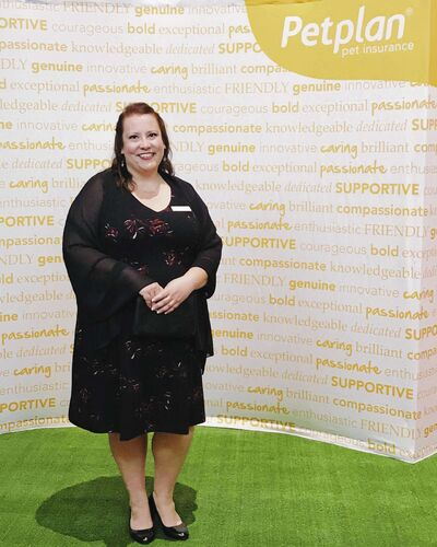 Jill Bristow was recently honoured in Orlando, Fla., as the pet parent of the year at the Petplan Veterinary Excellence Awards, sponsored by Petplan Pet Insurance .