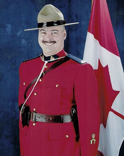 Allan Poapst, a father of three, worked for Manitoba RCMP for nearly 13 years before he was killed in a head-on car crash Friday afternoon. (RCMP handout photo)