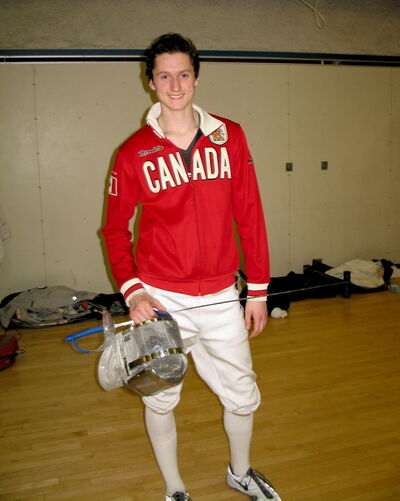 Cam Mackay dedicated himself to fencing this year, and based on the results it was a wise choice.
