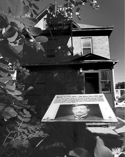 John Dafoe, former editor of the Winnipeg Free Press, was one of the leading anti-strike voices. His former grand home has been converted into a rooming house,  marked by a plaque.