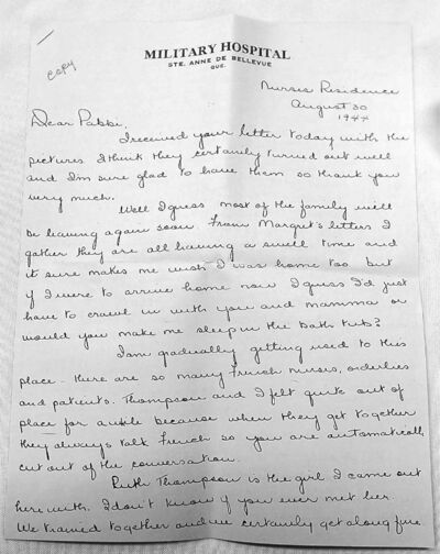 Agnes Comack, n��e Bardal, writes to tell her father some of the worst wounded were those suffering �shell shock�� �evidently, we have no idea how bad those bombs are.�