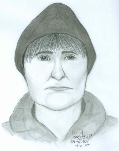 The Winnipeg police released this composite sketch of the second suspect in an attempted abduction of a teenage girl near St. Vital Centre March 29.