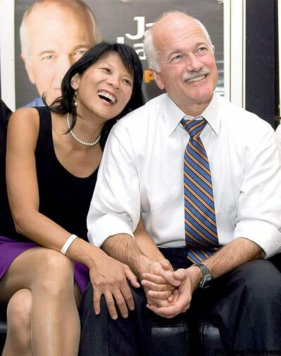 Former federal NDP leader, the late Jack Layton, and his wife MP Olivia Chow.