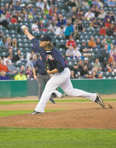 Fish starter Ethan Hollingsworth had a stellar night, allowing ony five hits and one run while striking out five in seven innings.