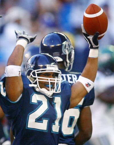 Orlando Steinauer was a ball-hawking defender during his time with the Toronto Argonauts.