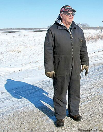Stan Cochrane, who farms along the Assiniboine north of Griswold, says he knows there's going to be a lot of water on his land this year.