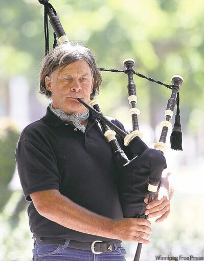 Gary Watkins, a Vietnam vet, plays bagpipes to help deal with his post-traumatic stress disorder.