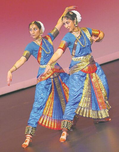 Sowmya and Shyamala Dakshinamurti, both medical doctors, are principal dancers of Manohar Performing Arts.