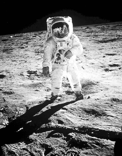 Neil Armstrong was the first man to walk on the moon, but Buzz Aldrin (pictured) was the first man to hold communion there.