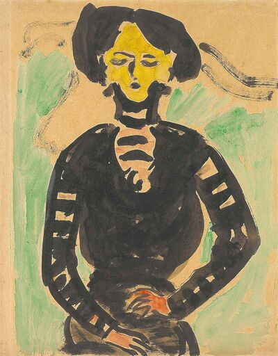 Portrait of a Woman by Ernst Ludwig Kirchner.