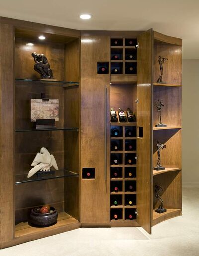 Custom-designed bookcase.