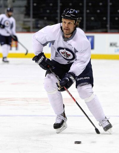 Winnipeg Jets forward Olli Jokinen isn't blaming fired head coach Claude Noel for the team's woes. MIKE DEAL / WINNIPEG FREE PRESS