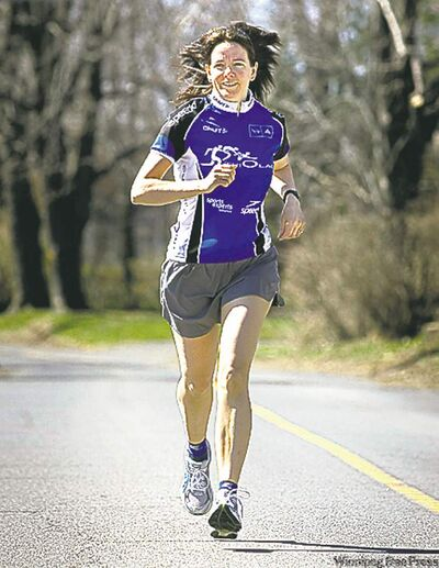 cns-0910Barker - A study out of Stanford University reported that middle-aged members of a runners� club posted far fewer deaths within the 20-year period of the study than their non-running counterparts. Genevieve Lebel, is seen here jogging near her home in Vaudreuil, Que. With story by Jill Barker for Canwest Health and Fitness Package. (Photo by John Mahoney/Montreal Gazette).   cnd-0502-barker2. Genevieve Lebel, jogging near her home in Vaudreuil, Que. With story by Jill Barker for CanWest Health and Fitness Package. (Photo by John Mahoney/Montreal Gazette)