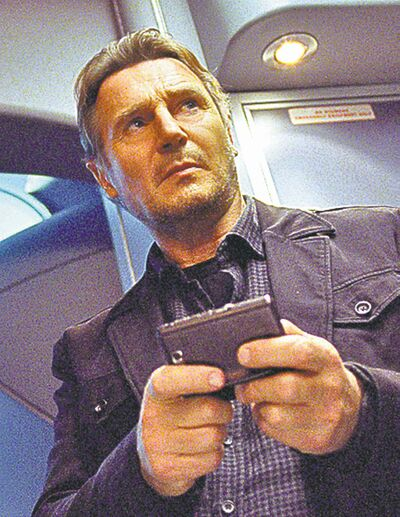 "Liam Neeson in a scene from ""Non-Stop."""