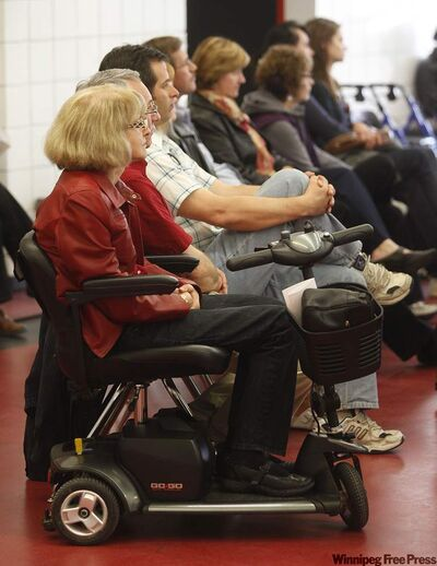 Attendees listen intently during Wednesday's gathering.