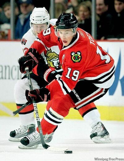 Chicago's Jonathan Toews expects to face a more relaxed Jets squad with 'a lot of legs.'