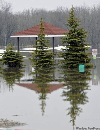 The Red River in Fargo peaked on Saturday, at a level lower than anticipated.