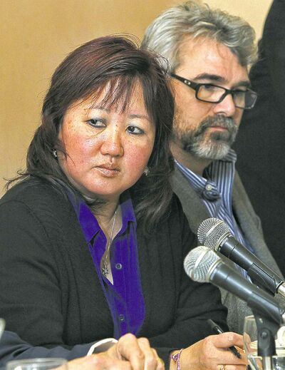 Carol Todd, mother of Amanda Todd, and Glen Canning, father of Rehtaeh Parsons, speak at a symposium on child sexual exploitation in the digital age.