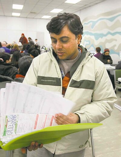 Vaibhav Saija, a recent immigrant from India, had his taxes prepared by the Community Financial Counselling Service. Saija said he will use his refund to purchase a couch and spend some of it on his son.