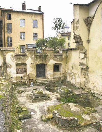 The synagogue ruins in Lviv, Ukraine, are all that is left of a vibrant Jewish culture, but they will be restored.