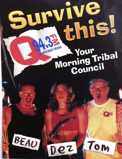 Supplied</p><p>Wtih radio survivors Beau and Tom at Q-94.</p></p>