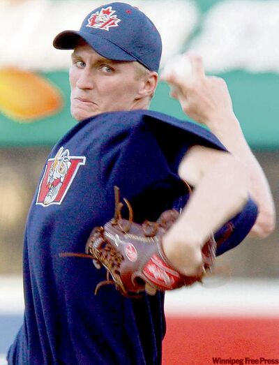 Former Goldeyes hurler Bear Bay is scheduled to start for the JackHammers tonight.