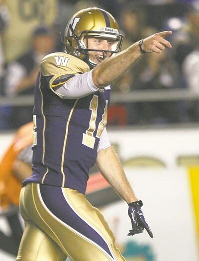 Winnipeg Blue Bombers quarterback Joey Elliott sparked the offence, and the fans on Thursday night.